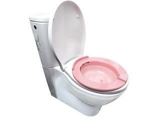 قرار گرفتن لگن هموروئید (سیتزبث) بر روی توالت فرنگی