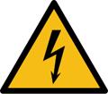 علامت خطر برقگرفتگی (ولتاژ بالا)