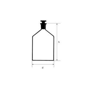 شیشه مایعی گردن باریک (بطری واکنش)