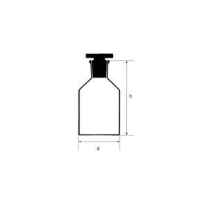 شیشه پودری دهانهگشاد (بطری واکنش)